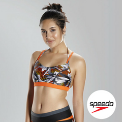 Speedo Women's Hydra Fizz Crop Top - Front