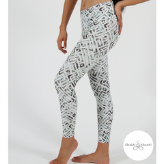 Shakti Shanti Yogawear -  Leggings Regular Length (Geometric Print)