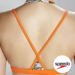 Speedo Women's Hydra Fizz Crop Top - Back