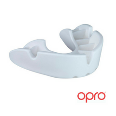 Opro Bronze Mouthguard - White