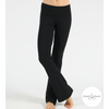 Shakti Shanti Yogawear -  Wide Band Bootleg Pants Regular Length (Black)