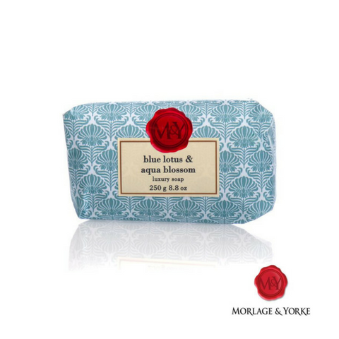 M&Y Blue Lotus & Aqua Blossom wrapped soap
