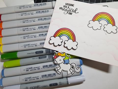 Avery Elle - Be A Unicorn - Copic Colouring - LadyBugCrafts