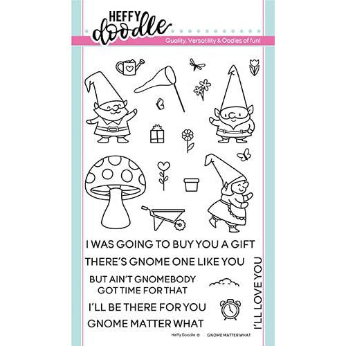 Gnome Matter What Stamps - LadyBugCrafts