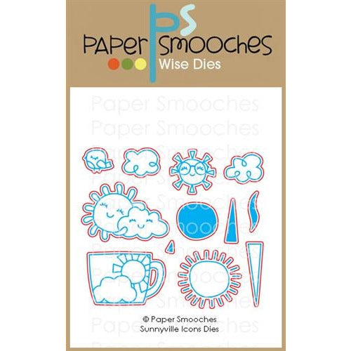 Paper Smooches - Sunnyville Icons Dies - LadyBugCrafts