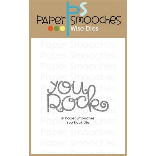 Paper Smooches - You Rock Die - LadyBugCrafts