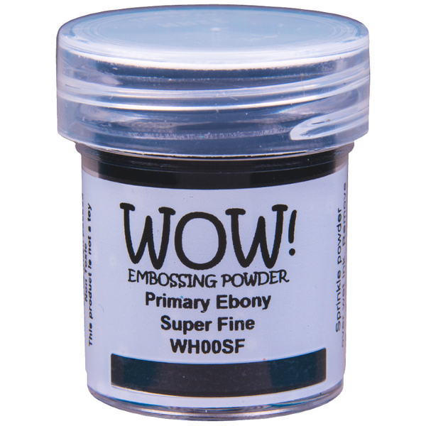 WOW! Primary Ebony Embossing Powder 15ml - Super Fine - LadyBugCrafts