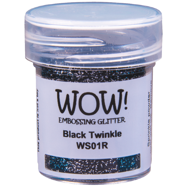 WOW! Black Twinkle Embossing Glitter 15ml - Regular - LadyBugCrafts