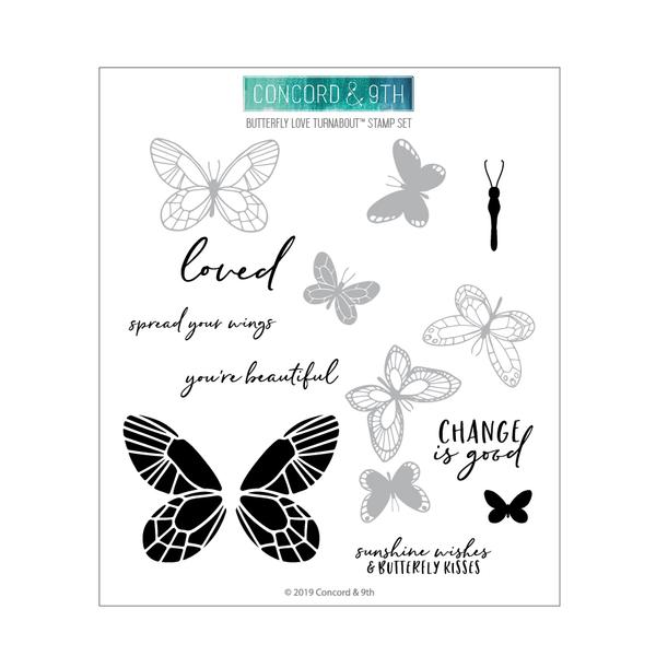 Butterfly Love Turnabout Stamp - LadyBugCrafts
