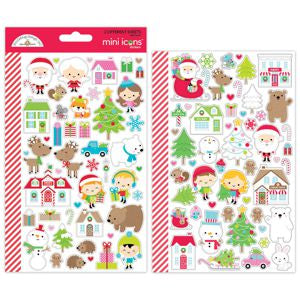 Christmas Town Mini Icon Stickers - LadyBugCrafts