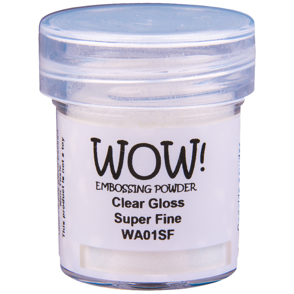 WOW! Clear Gloss Embossing Powder 15ml - Super Fine - LadyBugCrafts