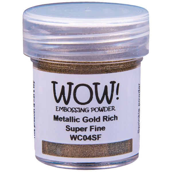 WOW! Metalic Gold Rich Embossing Powder 15ml - Super Fine - LadyBugCrafts