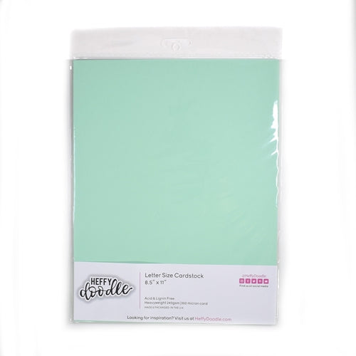 Hint Of Mint Coloured Cardstock - LadyBugCrafts