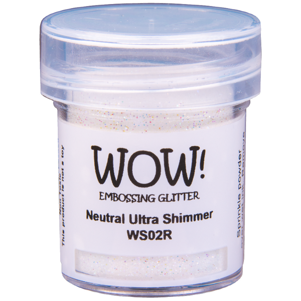 WOW! Neutral Ultra Shimmer Embossing Glitter 15ml - Regular - LadyBugCrafts