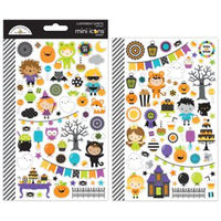 Pumpkin Party Mini Icon Stickers - LadyBugCrafts