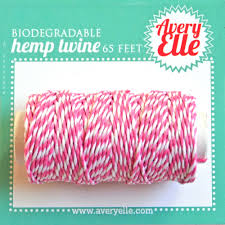 Raspberry Hemp Twine - LadyBugCrafts
