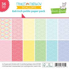 Really Rainbow Scallops Paper Pad - LadyBugCrafts