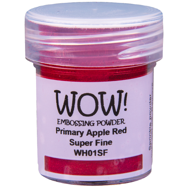 WOW! Primary Apple Red Embossing Powder 15ml - Super Fine - LadyBugCrafts