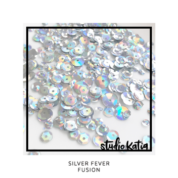 Silver Fever Fusion Sequins - LadyBugCrafts