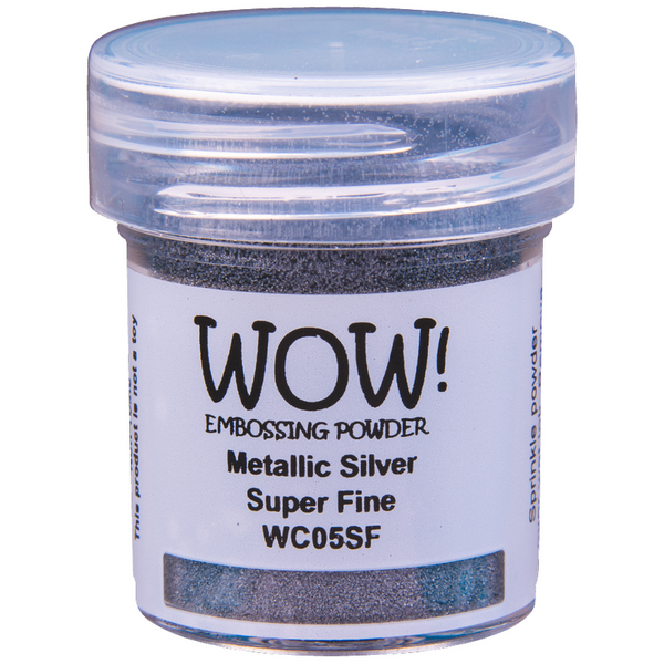 WOW! Metalic Silver Embossing Powder 15ml - Super Fine - LadyBugCrafts