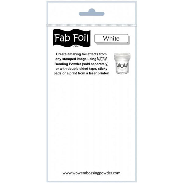 WOW! Fab Foil - Snowy White - LadyBugCrafts