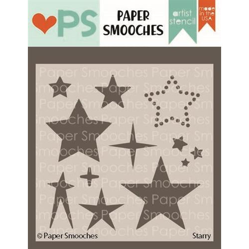 Paper Smooches - Starry Stencil - LadyBugCrafts