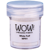 WOW! White Puff Ultra High Embossing Powder 15ml - LadyBugCrafts