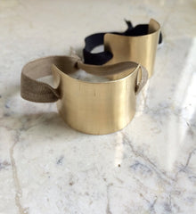Brass Ponytail Cuffs w/ elastic