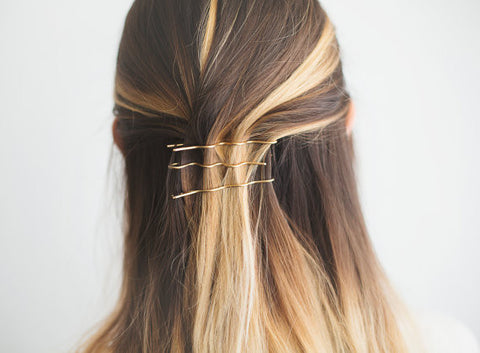 Golden Hair Pins