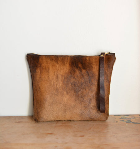 Cowhide pouch