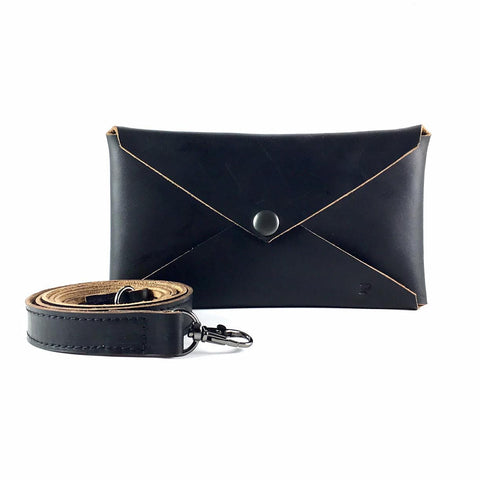 Leather Envelope Convertible Cross-Body Bag