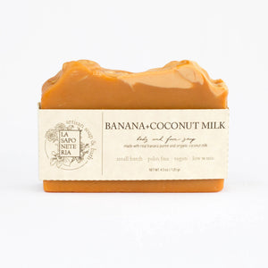BANANA + COCONUT MILK SOAP