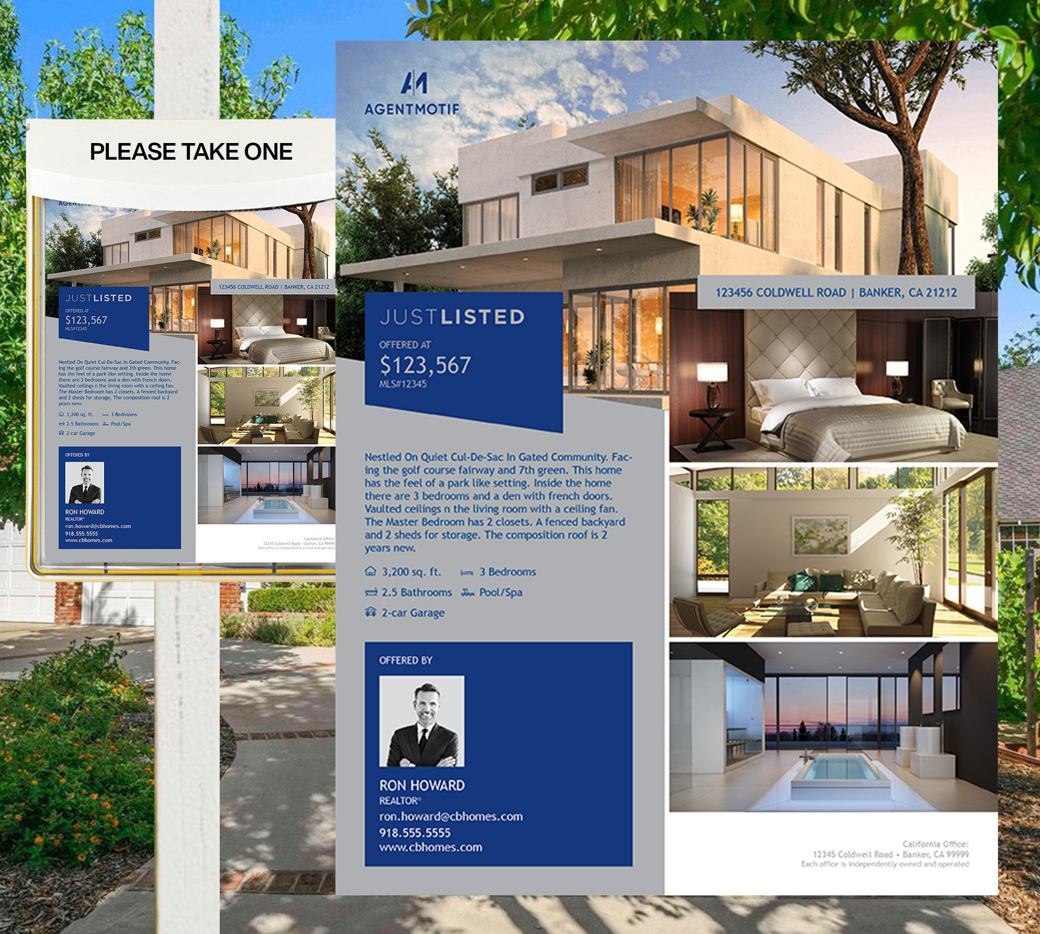 Coldwell Banker Inspired Premium Listing Flyers Design 006