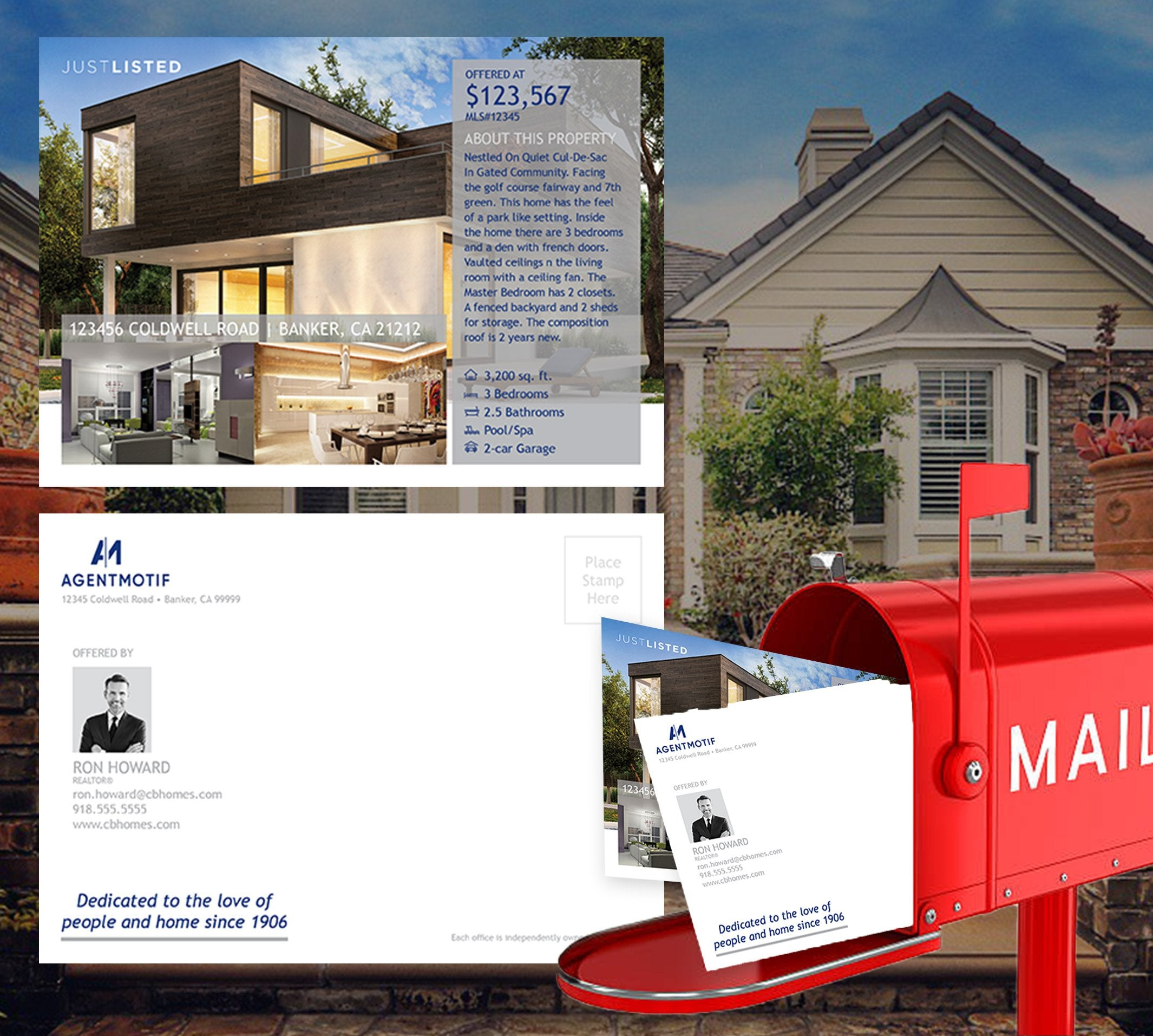 Coldwell Banker Inspired Premium Postcard Design 005