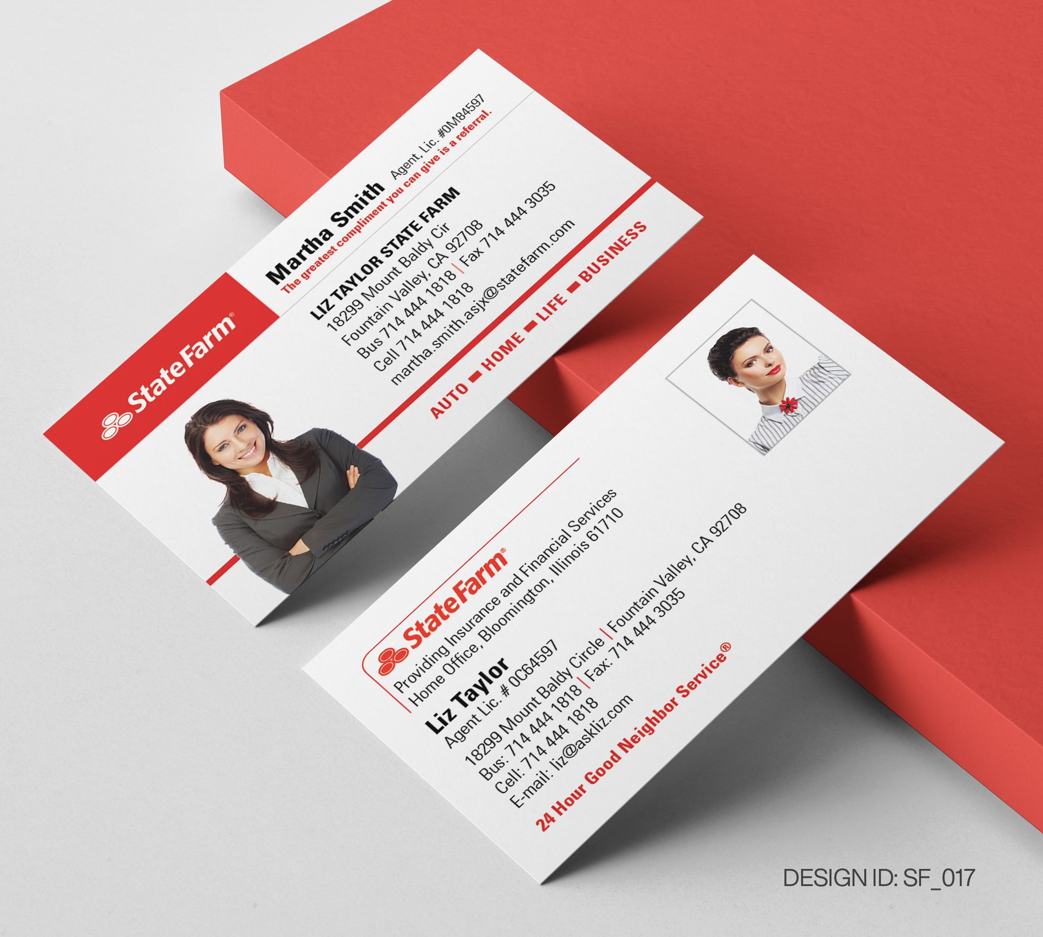 State Farm Business Card Design  017