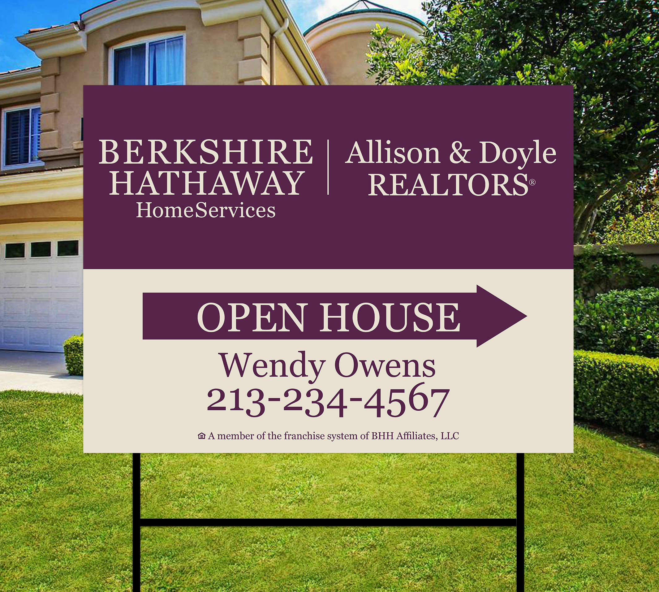 Berkshire Hathaway Sidewalk Sign Design 004