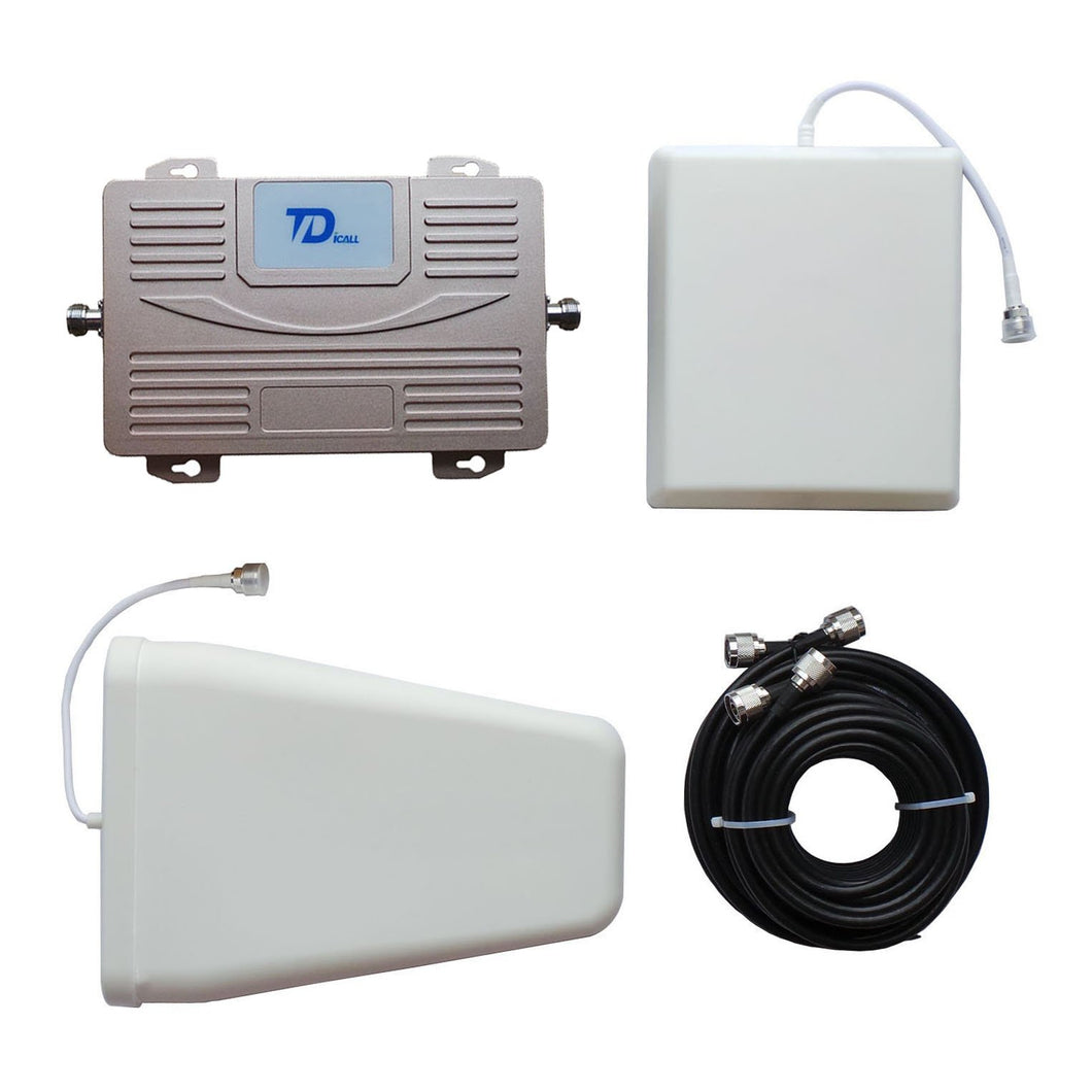 Dual Band 900MHz 2100MHz Signal Booster GSM/UMTS Mobile Phone Repeater GSM/WCDMA Signal Amplifier With Antennas - GULFALI