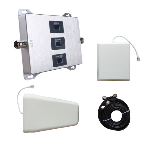 Triband Signal Booster Kit | 900MHz 1800MHz 2100MHz Mobile Phone Repeater