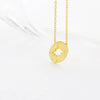 Simple Circle Disc Compass Necklace in Gold - RecocoNYC - 1