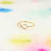 Simple Dainty Gold / Silver Infinity Sign Band Ring - RecocoNYC - 2