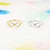 Simple Dainty Gold / Silver Infinity Sign Band Ring - RecocoNYC - 1