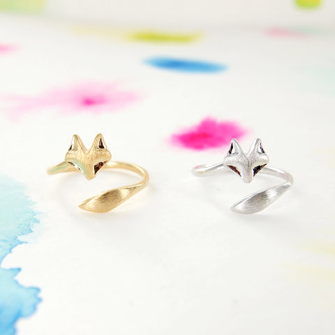 Adjustable Wrapping Silver / Gold Fox Ring - RecocoNYC - 1