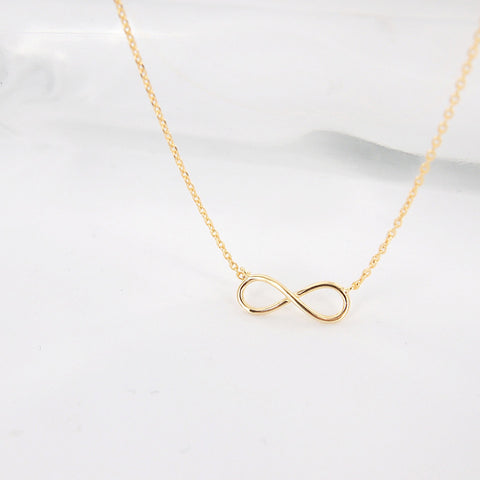 Simple Gold Infinity Necklace - RecocoNYC - 1