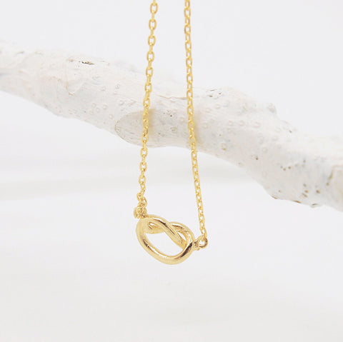 Simple Gold Infinity Knot Necklace - RecocoNYC - 1