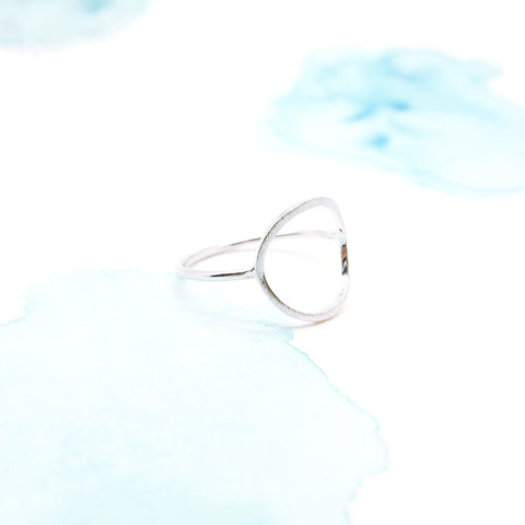 Delicate Minimal Silver Karma Infinity Circle Ring - RecocoNYC - 1