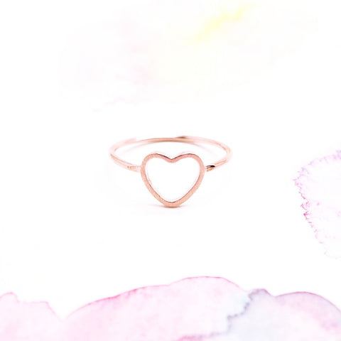 Delicate Love Infinity Heart Ring in Pink Rose Gold - RecocoNYC - 1