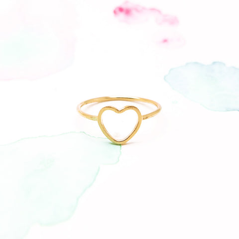 Delicate Love Infinity Heart Ring in Gold - RecocoNYC - 1