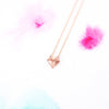 Cute Dainty Pink Rose Gold Fox Necklace - RecocoNYC - 3