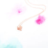 Cute Dainty Pink Rose Gold Fox Necklace - RecocoNYC - 4