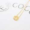 Simple Circle Disc Compass Necklace in Gold - RecocoNYC - 4